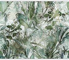murando Fototapete selbstklebend Blätter 343x256