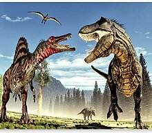 murando Fototapete selbstklebend Dinosaurier