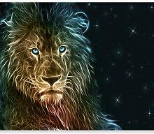 murando Fototapete selbstklebend Löwe 294x210 cm