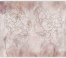 murando Fototapete selbstklebend Skizze 343x256 cm