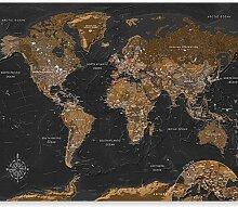 murando Fototapete selbstklebend Weltkarte 196x140