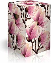 murando Papphocker Motiv Blumen Magnolien 45x30x30