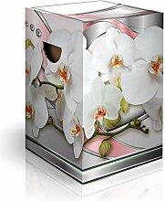 murando Papphocker Motiv Blumen Orchidee 45x30x30