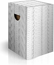 murando Papphocker Motiv Pullover 45x30x30 cm