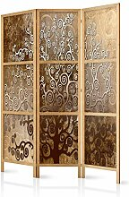 murando - Paravent Baum Abstrakt braun 135x171 cm