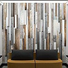 murando - PURO TAPETE - Realistische Holzoptik Tapete ohne Rapport und Versatz - Kein sich wiederholendes Muster - 10m Vlies Tapetenrolle - Wandtapete - modern design - Fototapete - Holz Bretter Parkett grau braun f-A-0083-j-b
