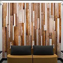murando - PURO TAPETE - Realistische Holzoptik Tapete ohne Rapport und Versatz - Kein sich wiederholendes Muster - 10m Vlies Tapetenrolle - Wandtapete - modern design - Fototapete - Holz Bretter Parkett grau braun f-A-0083-j-c