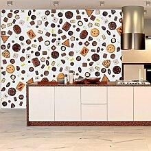 murando® PURO TAPETE | Realistische Tapete ohne Rapport und Versatz | Kein sich wiederholendes Muster | 10m Vlies Tapetenrolle | Wandtapete | Top modern design | Fototapete | Schokolade Süßigkeiten Pralinien j-C-0002-j-a
