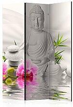 murando Raumteiler Buddha Foto Paravent 135x172 cm
