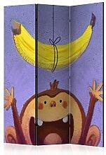 murando Raumteiler Foto Paravent AFFE mit Banane