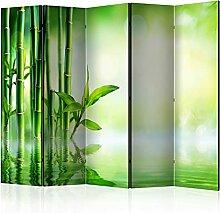 murando Raumteiler Foto Paravent Bambus 225x172 cm