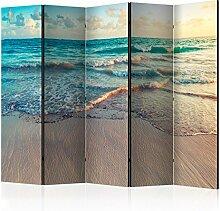 murando Raumteiler Foto Paravent Strand am Meer