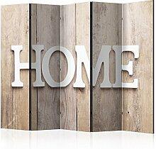 murando Raumteiler Home Holz-Optik Foto Paravent