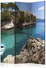 murando Raumteiler Meer Boot Insel Steg Foto