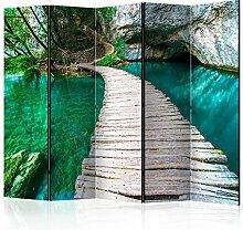 murando Raumteiler Steg Felsen See Natur Foto