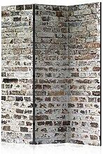 murando Raumteiler Ziegel-Optik Foto Paravent
