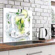 murando Spritzschutz Glas für Küche 60x60 cm