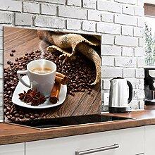 murando Spritzschutz Glas für Küche 80x60 cm