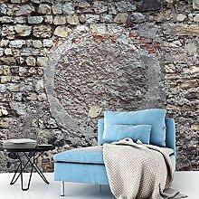 murando - Vlies Fototapete 250x175 cm - Vlies Tapete - Moderne Wanddeko - Design Tapete - Steine Steinoptik Mauer f-A-0542-a-b