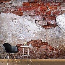 murando - Vlies Fototapete 300x210 cm - Vlies Tapete - Moderne Wanddeko - Design Tapete - Ziegel Ziegelstein f-A-0500-a-b