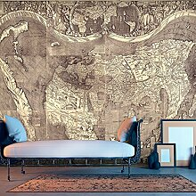murando - Vlies Fototapete 400x280 cm - Vlies Tapete - Moderne Wanddeko - Design Tapete - Weltkarte Amerigo Vespucci k-B-0047-a-a