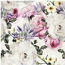 murando - Vlies Tapete Blumen - Deko Panel