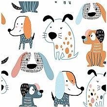murando Vlies Tapete Kinderzimmer Tiere Deko Panel