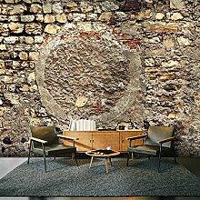 murando - XXXL Fototapete 600x280 cm - Größe Format 6m - Vlies Tapete - Moderne Wanddeko - Design Tapete - Steine Steinoptik Mauer f-A-0542-x-g
