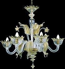 Muranese Kronleuchter aus Murano-Glas 6-armig