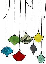 Murano Buntglas-Hängeornament, Sonnenkraut, Glas,