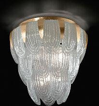 Murano Collection Deckenleuchte gold,Handgefertigt