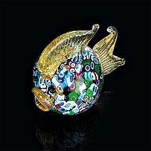 Murano Fisch, Muranoglas, Glas, mehrfarbig, klein