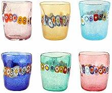 Murano-Gläser aus Murano-Glas, 6-teiliges Set in
