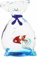 Murano Glas Aquarium Tasche mit tropischen Fischen