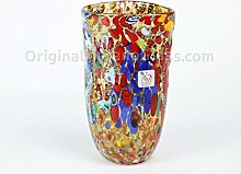 Murano Glas Vase Carnevale in gemischten Farben