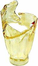 Murano Glas Vase Honig Welle von Tammaro Home Made