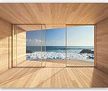 murimage Fototapete Meer 3D Fenster 366 x 254cm