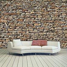 murimage Fototapete Steine 3D 366 x 254cm Wand
