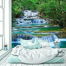 murimage Fototapete Wasserfall 274x254 cm Wandbild