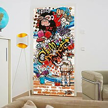murimage Türtapete Graffiti 86 x 200 cm inklusive