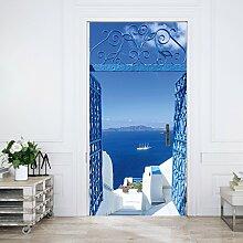 murimage Türtapete Santorini 86 x 200 cm