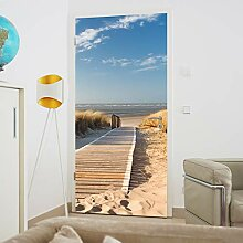 murimage Türtapete Strand Meer 86 x 200 cm