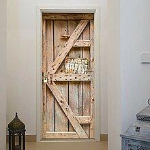 murimage Türtapete Tür Holzoptik 86 x 200 cm