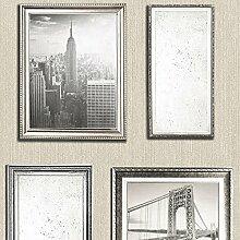 Muriva 701335 NYC Bilderrahmen, 6 Rollen, Pearl