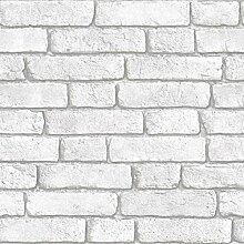 Muriva Bluff Geprägt Weiß Kunst Effekt Tapete