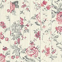 Muriva Blumen Rose Blumen Muster Tapete Kunst Holz