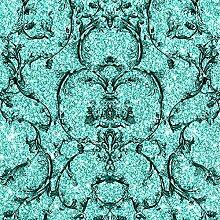 Muriva Couture Tapete Barock-Stil 701348 Schnörkel-Design türkis
