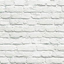 Muriva gemalten weißen Backstein Tapete (102539)