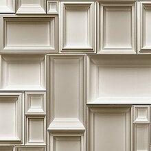 Muriva Just Like It - Bilderrahmen Motiv Muster Designer Tapete - Blaugrün J66308