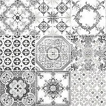 Muriva Tapete Fliesen Muster Retro Floral Motiv